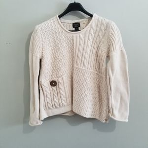 Neiman Marcus Sweaters - Neiman Marcus Pure Handknit cream cotton sweater